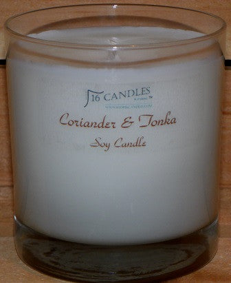 Coriander & Tonka ~ Tumbler Glass Soy Candle