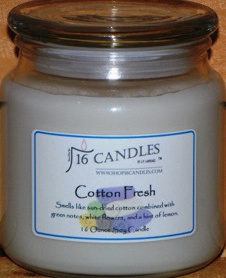 Cotton Fresh - 16 Oz Soy Candle - Shop16Candles