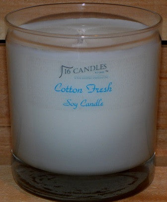 Cotton Fresh ~ Tumbler Glass Soy Candle
