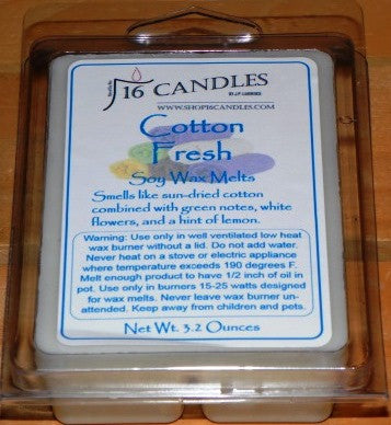 Cotton Fresh ~ Soy Wax Melts - 16 Candles by J.P. Lawrence