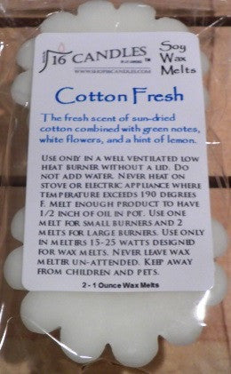 Cotton Fresh ~ Scented Wax Melts - 16 Candles by J.P. Lawrence