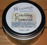 Crackling Firewood ~ Large 2 Wick Tin