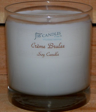 Creme Brulee ~ Tumbler Glass Soy Candle