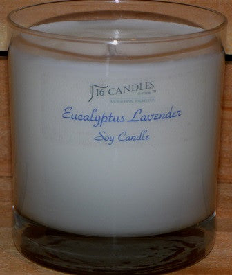 Eucalyptus Lavender ~ Tumbler Glass Soy Candle