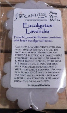 Eucalyptus Lavender ~ Scented Wax Melts - 16 Candles by J.P. Lawrence