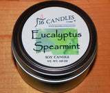 Eucalyptus Spearmint ~ Small Tin Soy Candle