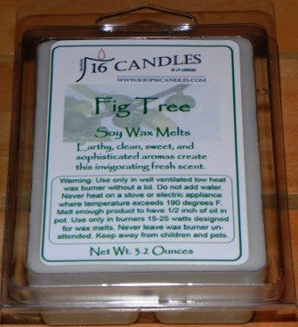 Fig Tree ~ Soy Wax Melts - 16 Candles by J.P. Lawrence