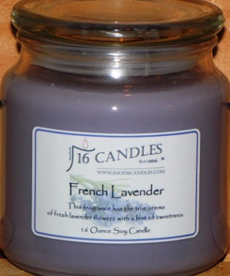 French Lavender ~ 16 Oz Soy Candle - Shop16Candles
