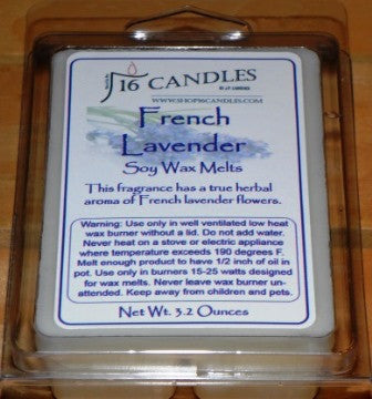 French Lavender ~ Soy Wax Melts - 16 Candles by J.P. Lawrence
