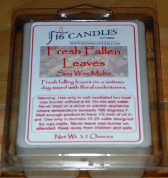 Fresh Fallen Leaves ~ Soy Wax Melts - 16 Candles by J.P. Lawrence