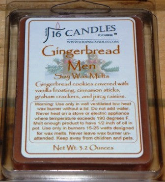 Gingerbread Men ~ Soy Wax Melts