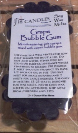 Grape Bubble Gum ~ Scented Wax Melts - 16 Candles by J.P. Lawrence