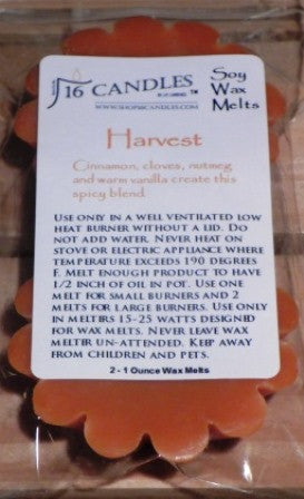 Harvest ~ Scented Wax Melts - 16 Candles by J.P. Lawrence