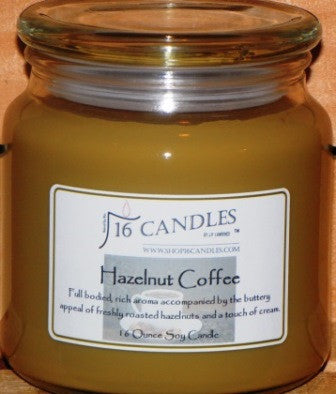 Hazelnut Coffee ~ 16 Oz Soy Candle - Shop16Candles