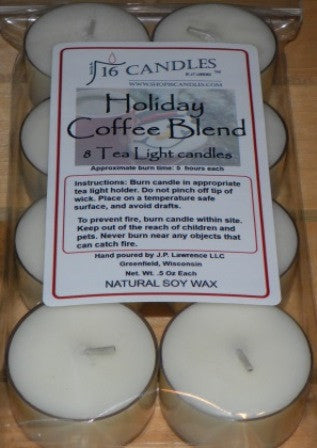 Holiday Coffee Blend ~ 8 Soy Tea Lights