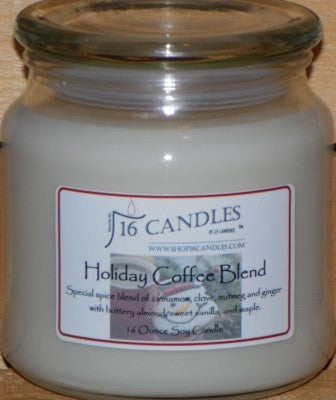 Holiday Coffee Blend ~ 16 Oz Soy Candle