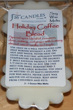 Holiday Coffee Blend ~ Scented Wax Melts