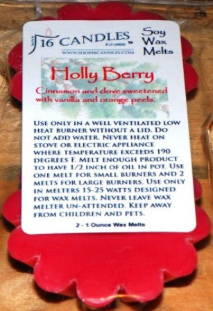 Holly Berry ~ Scented Wax Melts