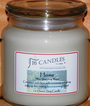 Home - 16 Oz Soy Candle - Shop16Candles