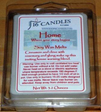 Home ~ Soy Wax Melts - 16 Candles by J.P. Lawrence