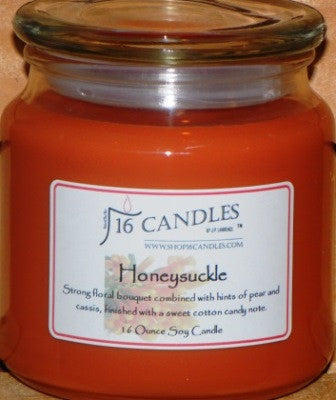 Honeysuckle ~ 16 Oz Soy Candle - Shop16Candles