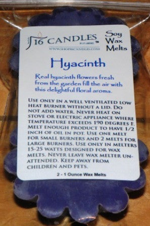 Hyacinth ~ Scented Wax Melts - 16 Candles by J.P. Lawrence