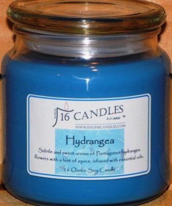 Hydrangea - 16 Oz Soy Candle - Shop16Candles