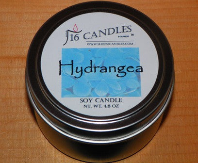 Hydrangea ~ Small Tin Soy Candle