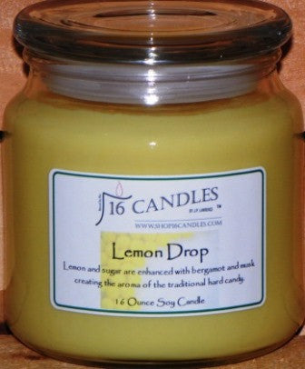 Lemon Drop ~ 16 Oz Soy Candle - Shop16Candles
