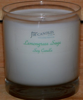 Lemongrass Sage ~ Tumbler Glass Soy Candle