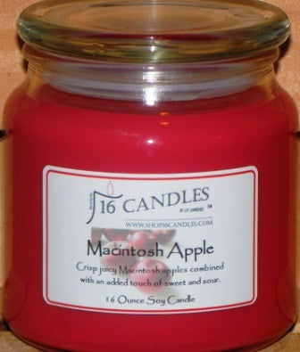 Macintosh Apple ~ 16 Oz Soy Candle - Shop16Candles