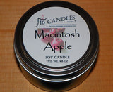 Macintosh Apple ~ Small Tin Soy Candle