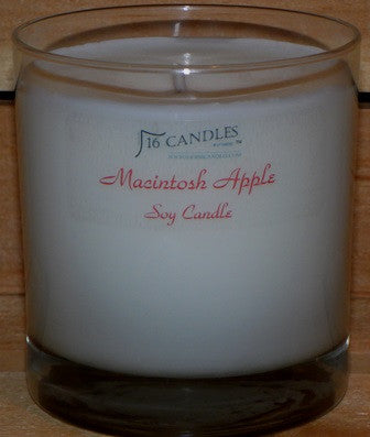 Macintosh Apple ~ Tumbler Glass Soy Candle