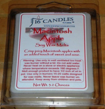 Macintosh Apple ~ Soy Wax Melts - 16 Candles by J.P. Lawrence