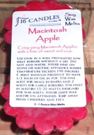Macintosh Apple ~ Scented Wax Melts - 16 Candles by J.P. Lawrence