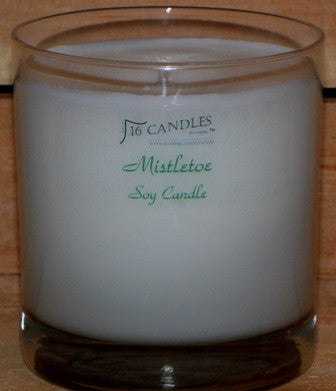 Mistletoe ~ Tumbler Glass Soy Candle