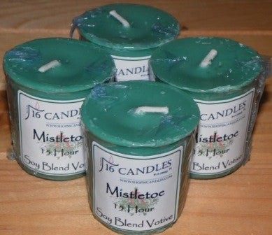 Mistletoe Votive ~ Single or 4 Pack