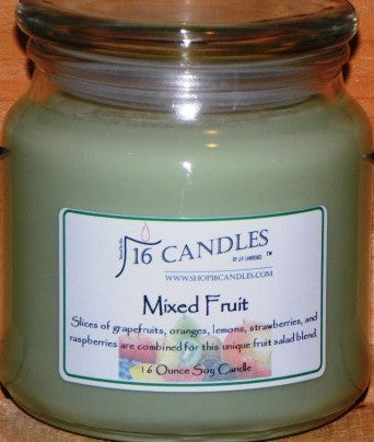 Mixed Fruit ~ 16 Oz Soy Candle - Shop16Candles