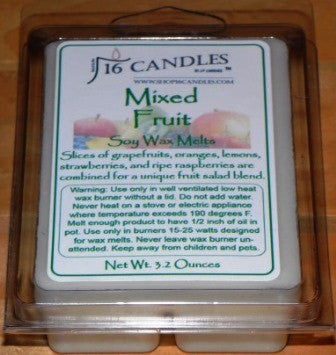 Mixed Fruit ~ Soy Wax Melts - 16 Candles by J.P. Lawrence