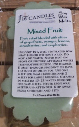 Mixed Fruit ~ Scented Wax Melts - 16 Candles by J.P. Lawrence