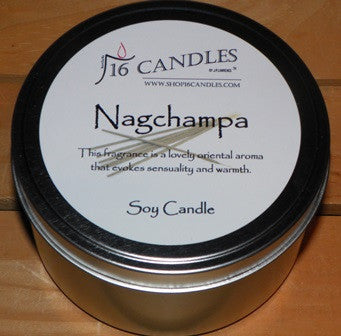Nagchampa ~ Large Tin Soy Candle