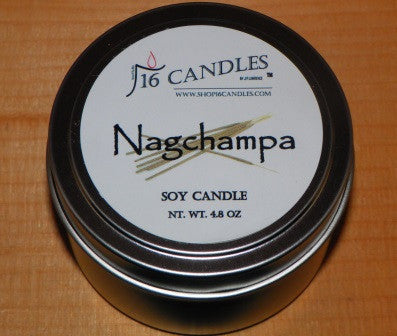 Nagchampa ~ Small Tin Soy Candle