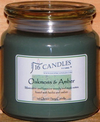 Oakmoss & Amber ~ 16 Oz Soy Candle - Shop16Candles