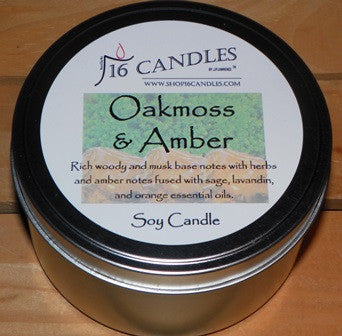 Oakmoss & Amber ~ Large 2 Wick Tin