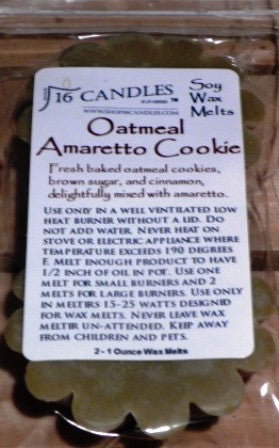 Oatmeal Amaretto Cookies ~ Scented Wax Melts - 16 Candles by J.P. Lawrence