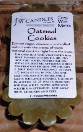 Oatmeal Cookies ~ Scented Wax Melts - 16 Candles by J.P. Lawrence