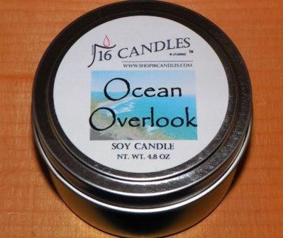 Ocean Overlook ~ Small Tin Soy Candle