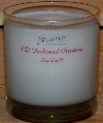 Old Fashioned Christmas ~ Tumbler Glass Soy Candle