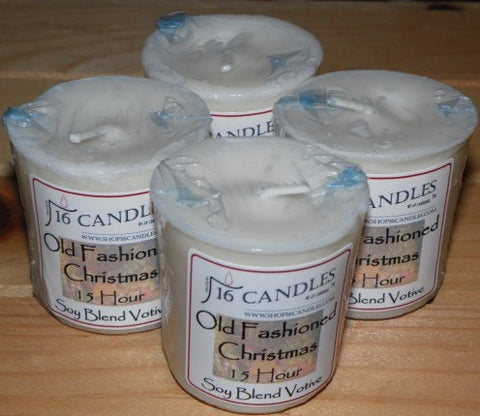 Old Fashioned Christmas Votive ~ Single or 4 Pack