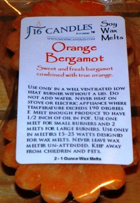 Orange Bergamot ~ Scented Wax Melts - 16 Candles by J.P. Lawrence